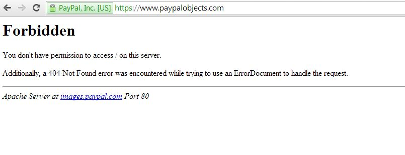 paypalobjects security misconfiguration example