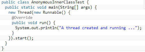 java anonymous inner class