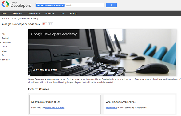 google developers academy
