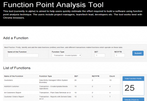 Function Point Analysis Tool