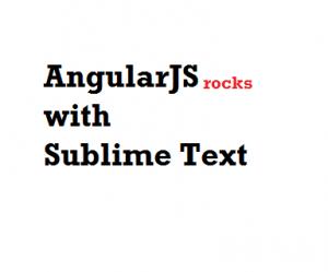 angularjs sublime text editor