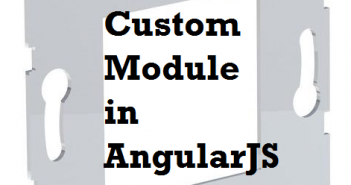 angularjs custom module
