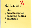 exception handling coding practices