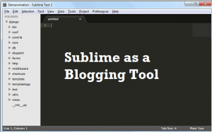 Sublime as a blogging tool