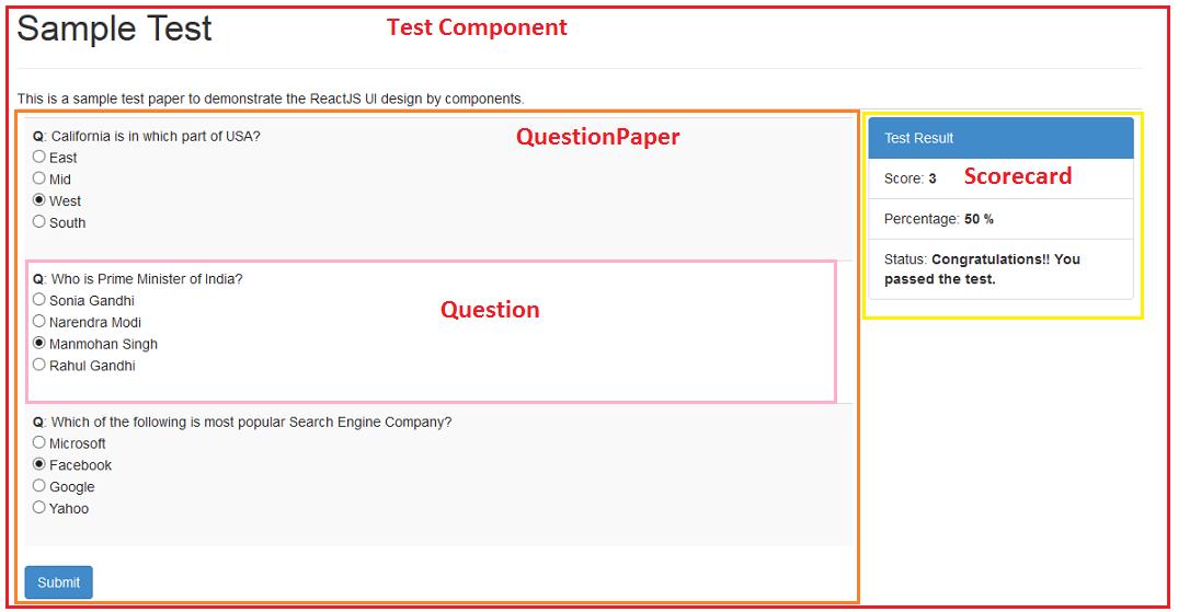 ReactJS - Step-by-Step Tutorial on Quiz Development