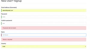 Angular Signup Form Template