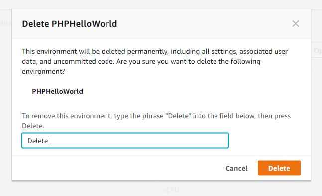 Delete Cloud9 IDE Environment