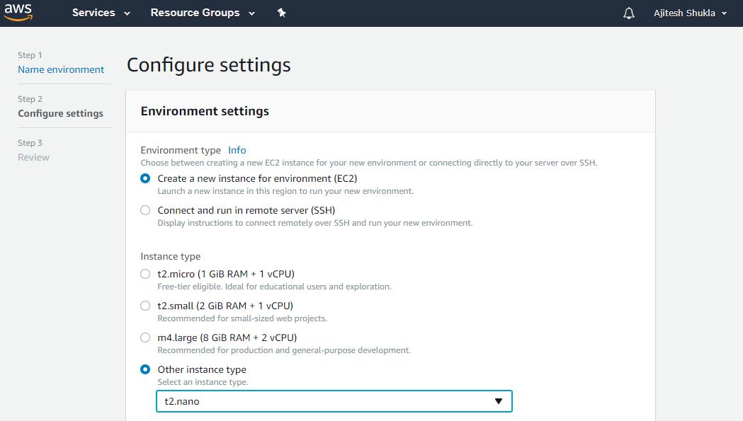 Configure AWS Cloud9 Environment
