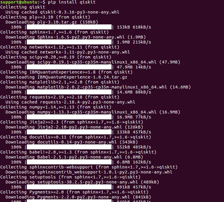 pip install qiskit command