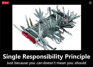 single responsibility principle with Java example