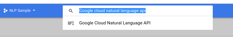 search google cloud natural language processing api