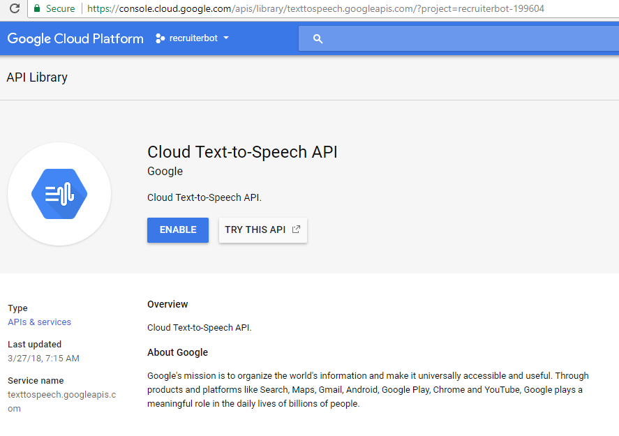 Google Cloud Text-to-Speech Java Code Example - Reskilling IT