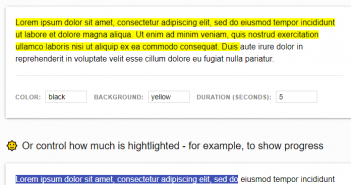 luminjs to highlight text in html page