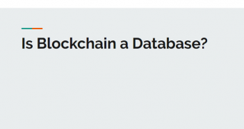 is blockchain a database