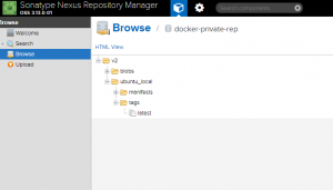 Browse Docker Images in local Nexus Repository