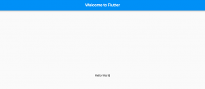 flutter hello world web app