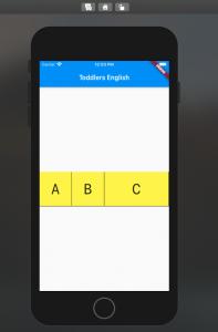 Flutter Flexible Widget Example with Row