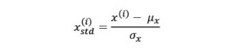 Standardization formula