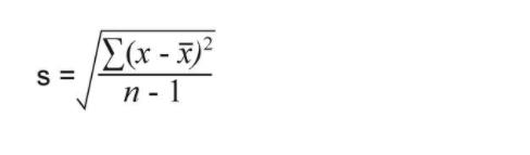 Standard Deviation for sample of Size n