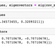 Eigenvalues and Eigenvectors Python Example