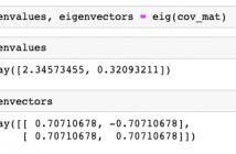Eigenvalues and Eigenvectors Python Example