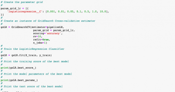 GridSearchCV Python Sklearn Examples