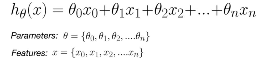 Lasso Regression Hypothesis Function