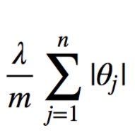 Regularization parameter with absolute summation of weights values