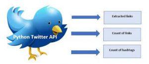 Twitter data mining with Python Twitter API
