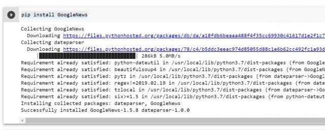 PIP Install GoogleNews Python Library