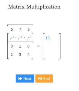 Matrix multiplication demonstration